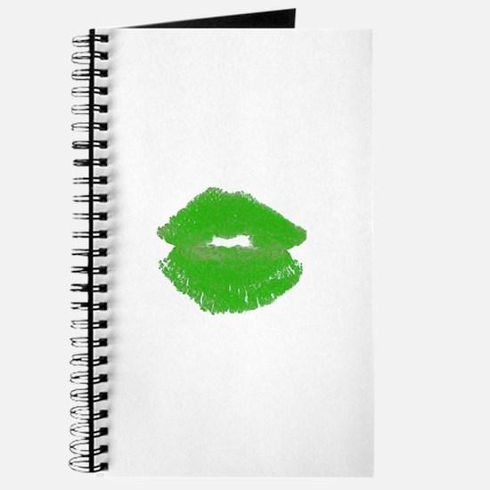 Kiss Me Im Irish Green Pucker Lips 23 Journal
