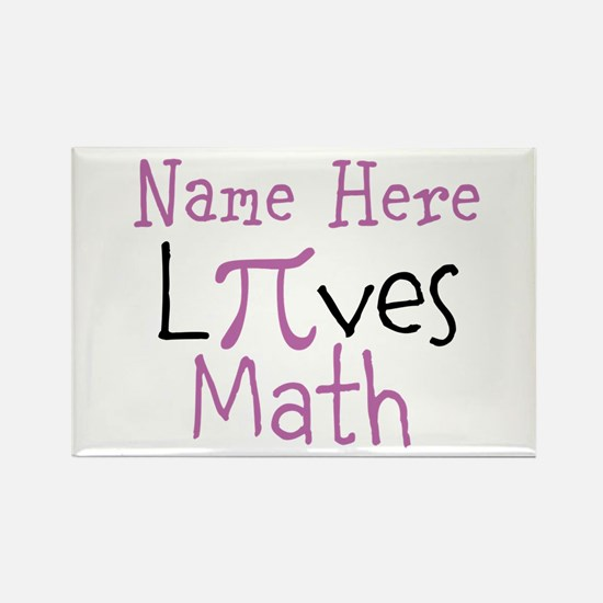 Pi PERSONALIZED Loves Math Rectangle Magnet