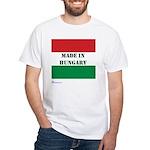 """Made in Hungary"" White T-Shirt"