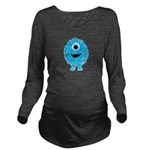 Mommys Monster Blue Long Sleeve Maternity T-Shirt
