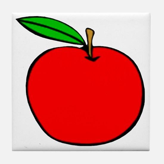 Red Apple Tile Coaster