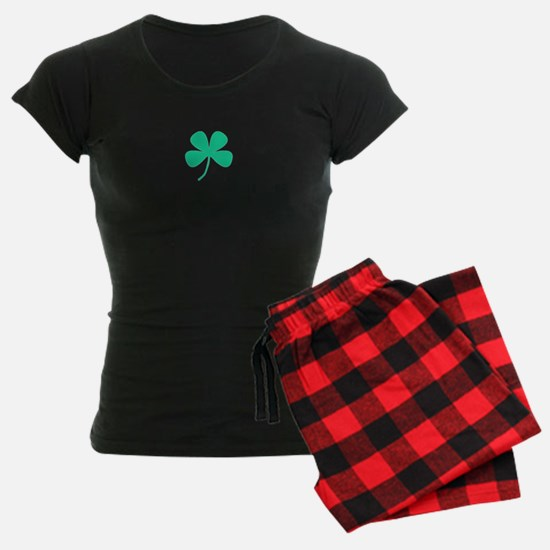 Green Irish Pride Shamrock Women'S Dark Pajamas