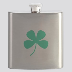 Green Irish Pride Shamrock Rocker Flask
