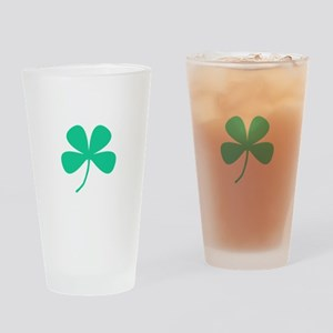Green Irish Pride Shamrock Rocker Drinking Glass