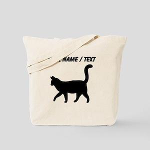 Custom Housecat Silhouette Tote Bag