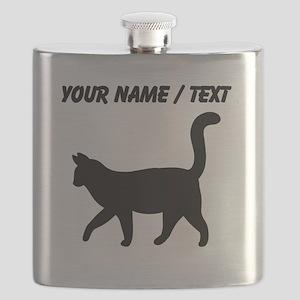 Custom Housecat Silhouette Flask