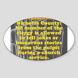 West Virginia Dumb Law 006 Sticker