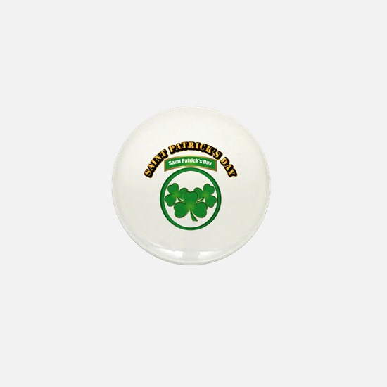 Saint Patrick's Day with text Mini Button