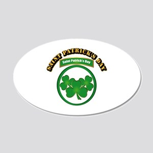 Saint Patrick's Day with tex 20x12 Oval Wall Decal