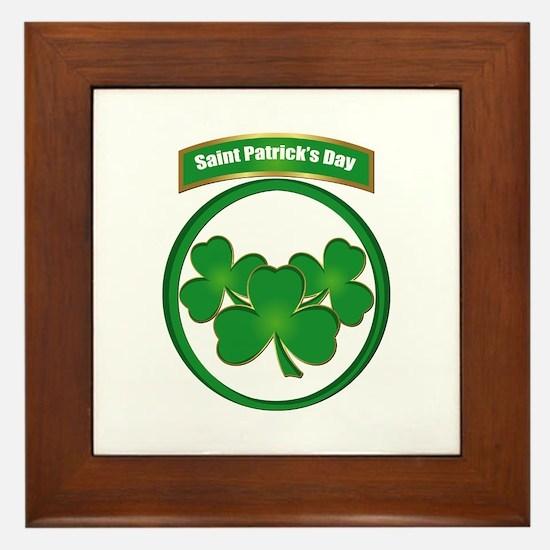 Saint Patrick's Day No text Framed Tile