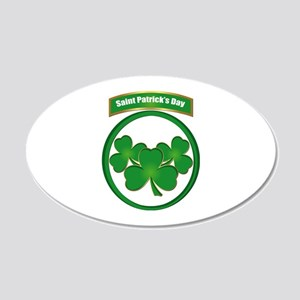 Saint Patrick's Day No text 20x12 Oval Wall Decal