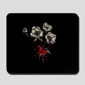 Dragonblood and Flowers Mousepad