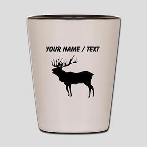 Custom Elk Silhouette Shot Glass