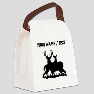 Custom Buck And Doe Canvas Lunch Bag