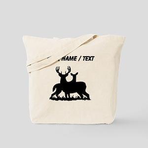 Custom Buck And Doe Tote Bag