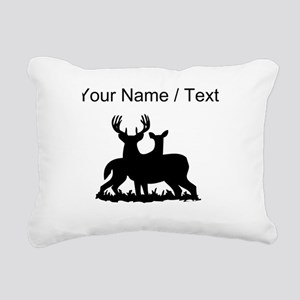 Custom Buck And Doe Rectangular Canvas Pillow