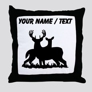 Custom Buck And Doe Throw Pillow