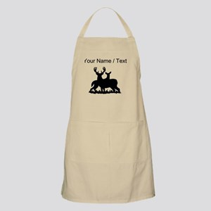 Custom Buck And Doe Apron