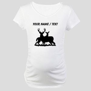 Custom Buck And Doe Maternity T-Shirt