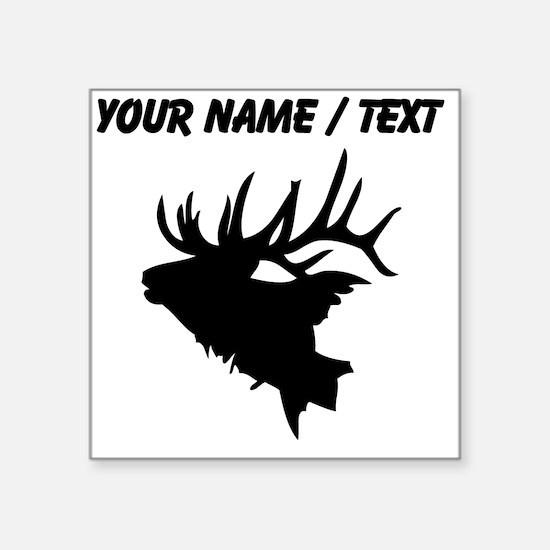 Custom Elk Head Sticker