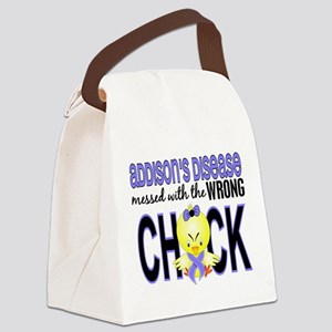 Messed With Wrong Chick Addisons Canvas Lunch Bag