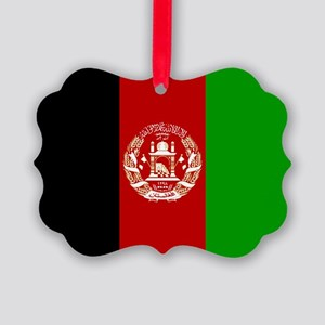 Afghanistan Flag Picture Ornament