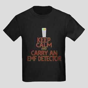 Keep Calm Carry EMF Kids Dark T-Shirt