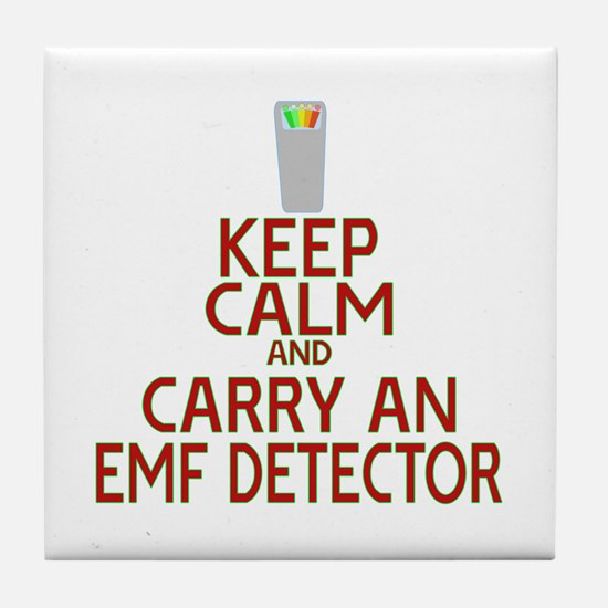 Keep Calm Carry EMF Tile Coaster