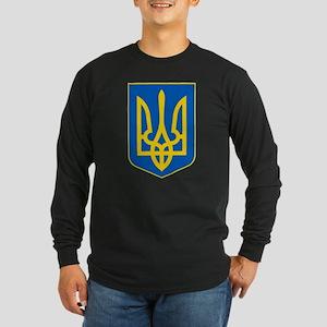 Ukrainian Coat of Arms Long Sleeve Dark T-Shirt