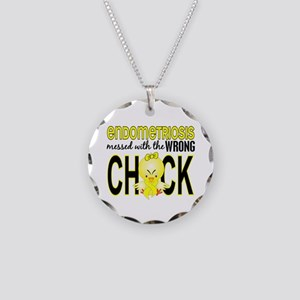 Messed With Wrong Chick Endo Necklace Circle Charm