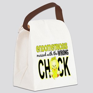 Messed With Wrong Chick Endometri Canvas Lunch Bag