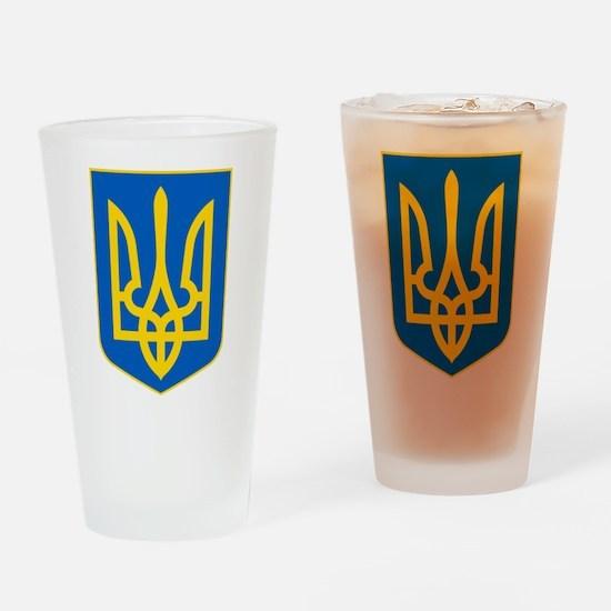 Ukrainian Coat of Arms Drinking Glass