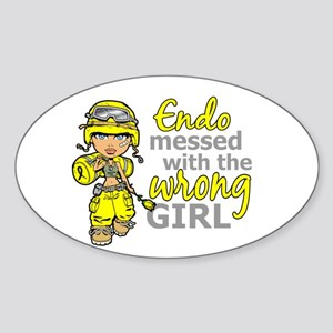 Combat Girl Endometriosis Sticker (Oval)