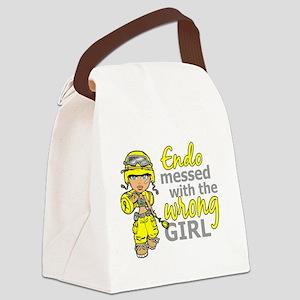 Combat Girl Endometriosis Canvas Lunch Bag