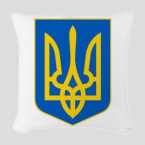 Ukrainian Coat of Arms Woven Throw Pillow