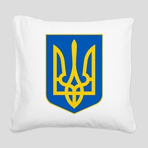 Ukrainian Coat of Arms Square Canvas Pillow