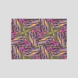 creative checkered multicolor 5'x7'Area Rug