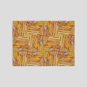 creative checkered orange 5'x7'Area Rug