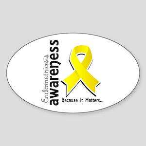 Awareness 5 Endometriosis Sticker (Oval)