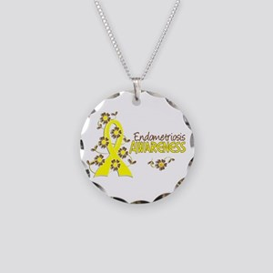 Awareness 6 Endometriosis Necklace Circle Charm