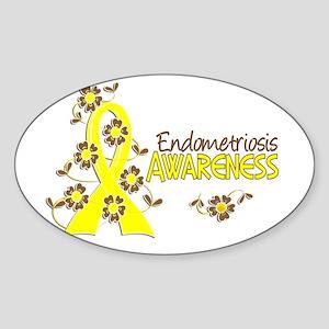 Awareness 6 Endometriosis Sticker (Oval)