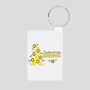Awareness 6 Endometriosis Aluminum Photo Keychain