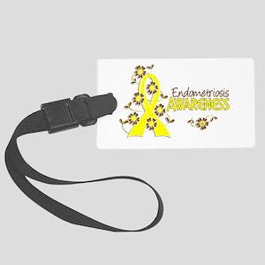 Awareness 6 Endometriosis Large Luggage Tag