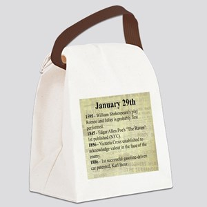 January 29th Canvas Lunch Bag