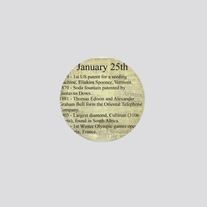 January 25th Mini Button