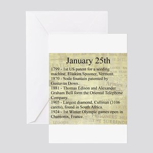 January 25th Greeting Cards
