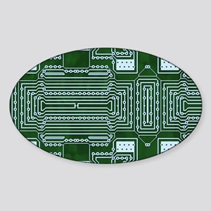 Circuit Board Sticker (Oval)