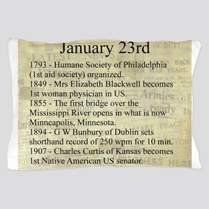January 23rd Pillow Case