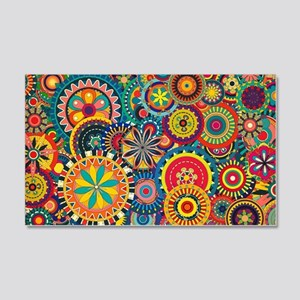 Colorful Floral Pattern 20x12 Wall Decal