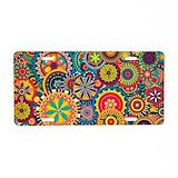 Colorful floral pattern aluminum License Plates